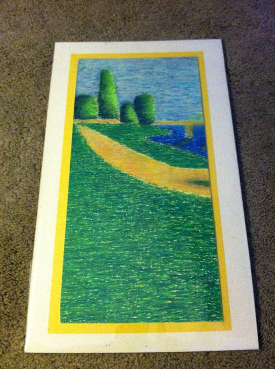 River Bank in Oil Pastel - Ashley G's Still Lifes and More