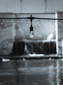 Monochrome Light Bulb at Bricktown