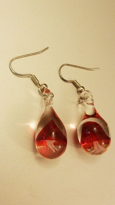 Glass Jellyfish Earrings - ottararts