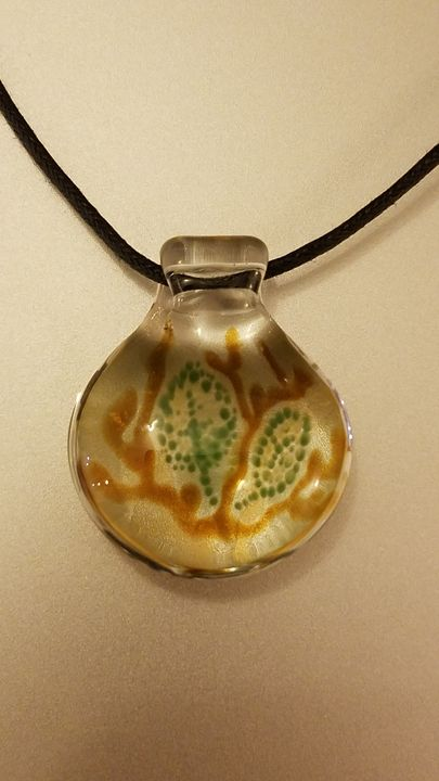 Branch and Leaves Glass Pendant - ottararts