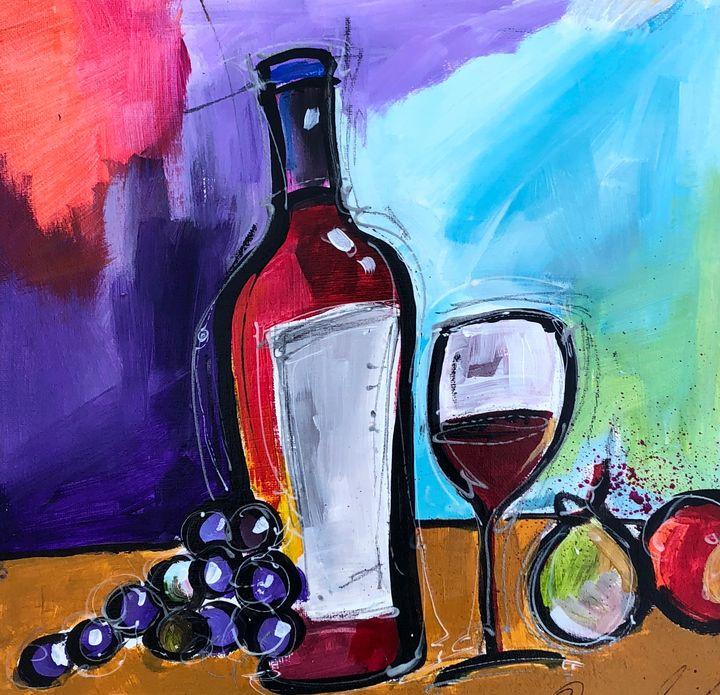Food Wine Art Painting