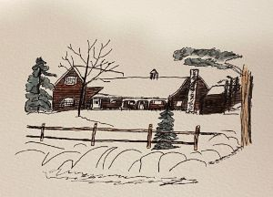 Evergreen Hill in winter - P and H Creations