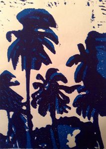 Palms in Blue