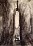 22x30 charcoal, pencil, wash drawing