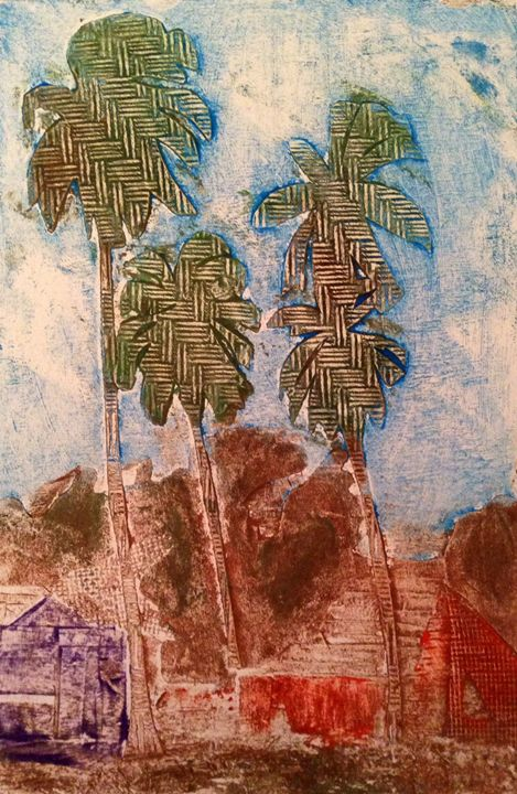 3 palms in color - Andrew Downey