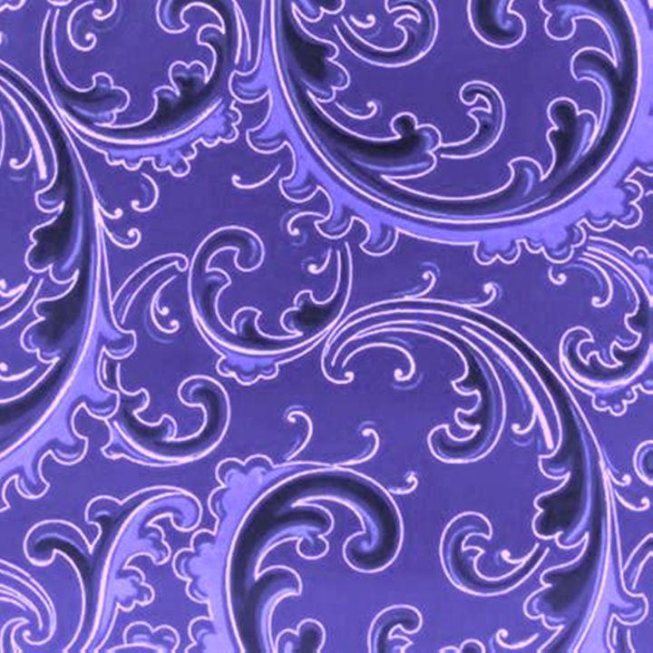 Vintage Swirls Curlicue Purple - Sara Valor