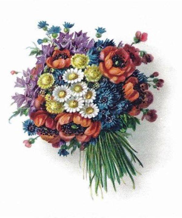 Retro Romantic Floral Bouquet - Sara Valor