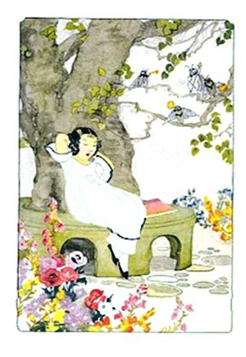 Vintage Garden Scene - Sara Valor