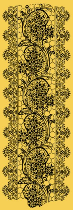 Vintage Lace Primrose Yellow - Sara Valor