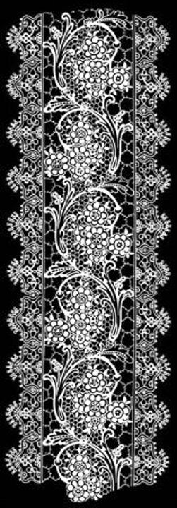 Vintage Lace Black and White - Sara Valor