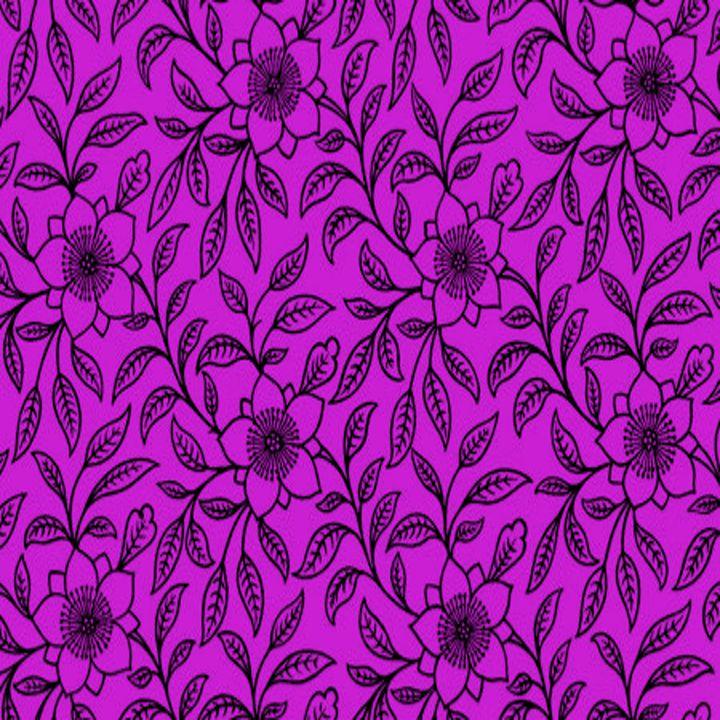 Vintage Lace Floral Dazzling Violet - Sara Valor