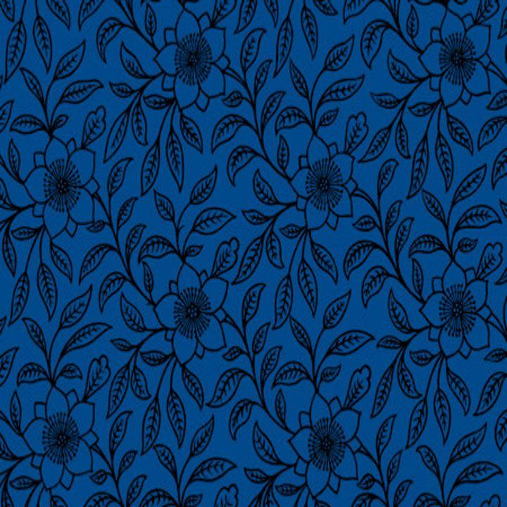 Vintage Lace Floral Lapis Blue - Sara Valor