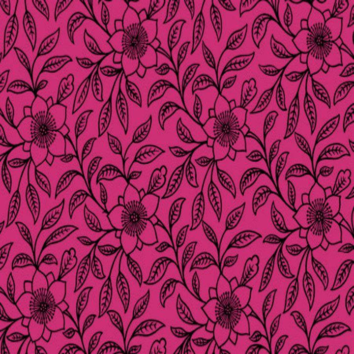 Vintage Lace Floral Pink Yarrow - Sara Valor