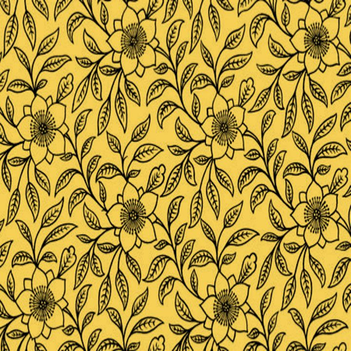 Vintage Lace Floral Primrose Yellow - Sara Valor