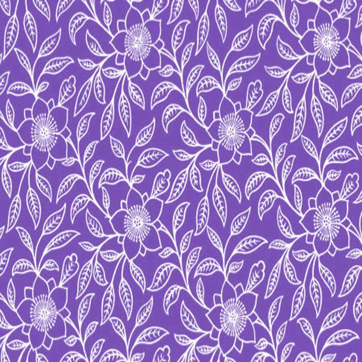 Vintage Lace Floral Purple - Sara Valor