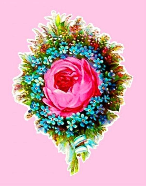 Vintage Floral Bouquet Rose - Sara Valor