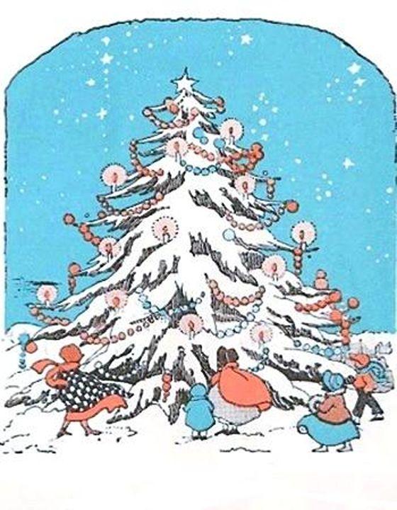 Vintage Christmas Tree - Sara Valor