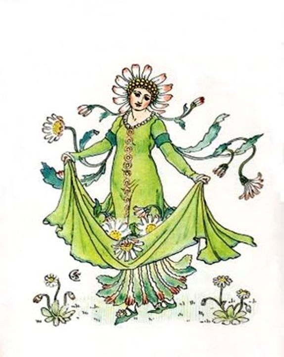 Vintage Daisy Lady Goddess - Sara Valor