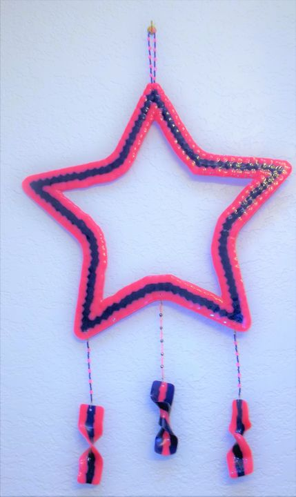 Pink & Blue Stars - Handcrafted by Danielle