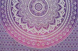 Ombre Purple Pink mandala bedsheet