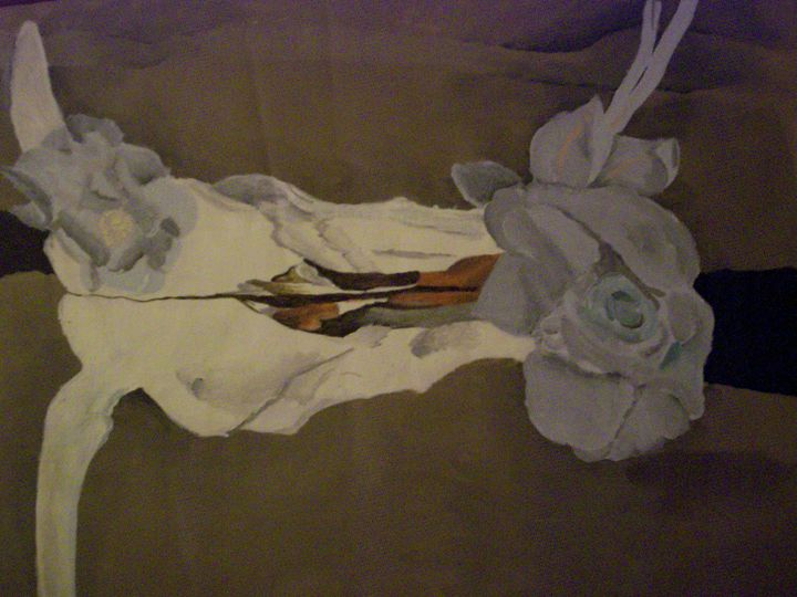 Longhorn Skull on Canvas - Portrait Hart Studios