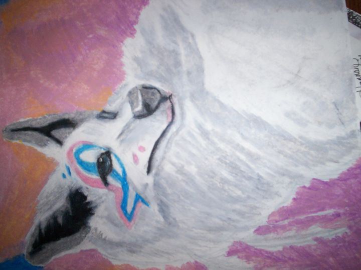 Indian Wolf Pastel - Portrait Hart Studios