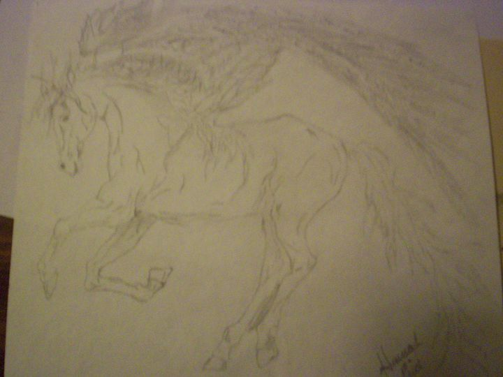 Pegasus Drawing - Portrait Hart Studios