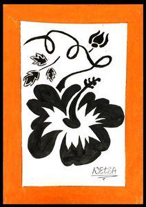 Hibiscus in Orange