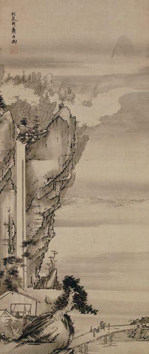 Soga Shōhaku~Waterfall - Canvas printing