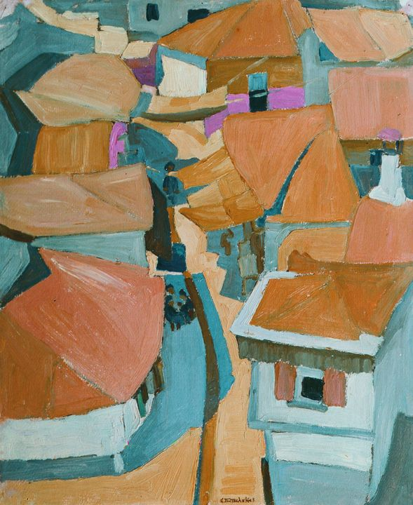 Spyrus Papalucas~Rooftops - Canvas printing