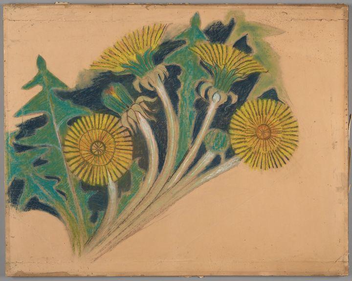 Stanisław Wyspiański~Sow thistle flo - Canvas printing