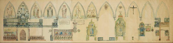 Stanisław Wyspiański~View of the Wal - Canvas printing
