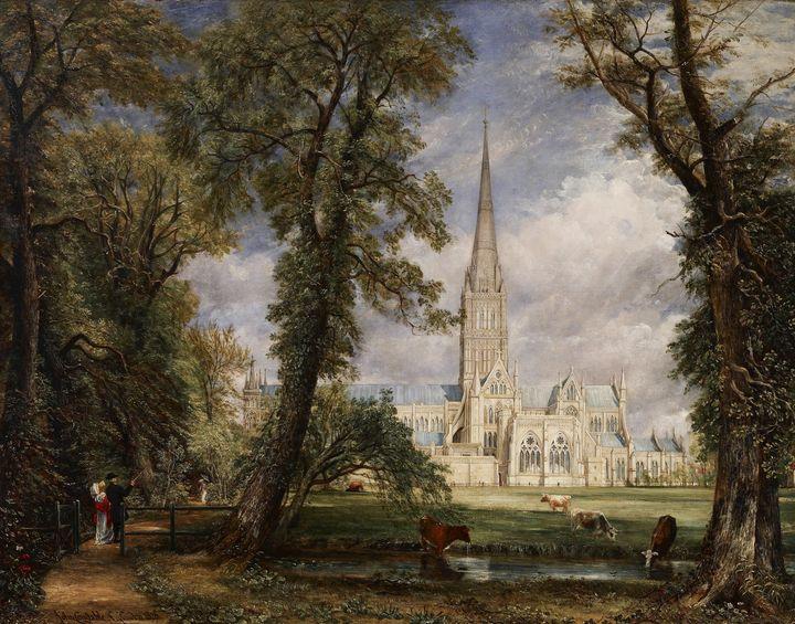 John Constable~Salisbury Cathedral f - Canvas printing