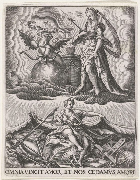 Theodor de Bry~De Liefde overwint al - Canvas printing