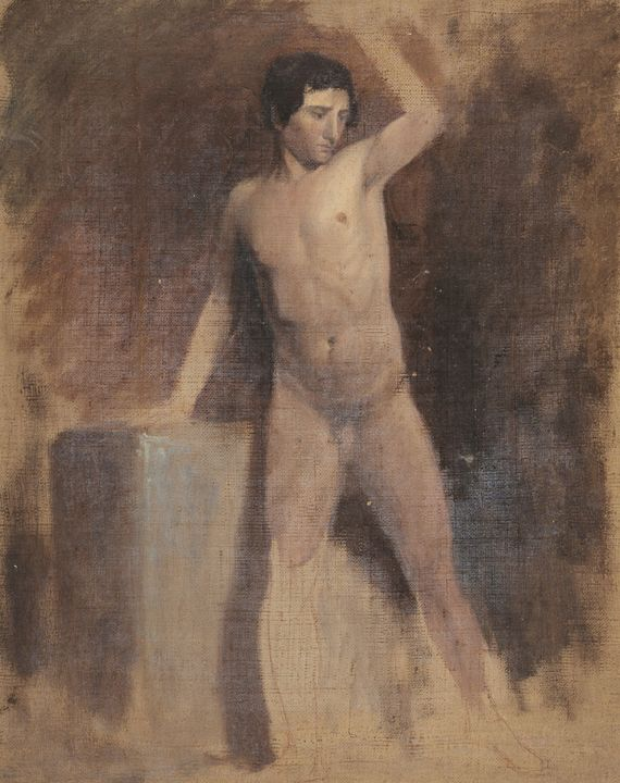 Thomas Cole~Male Nude - Canvas printing