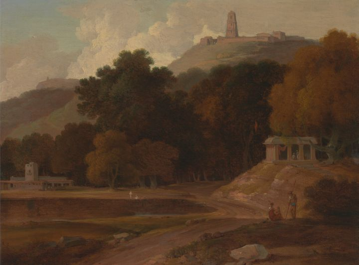 Thomas Daniel~Hilly Landscape in Ind - Canvas printing
