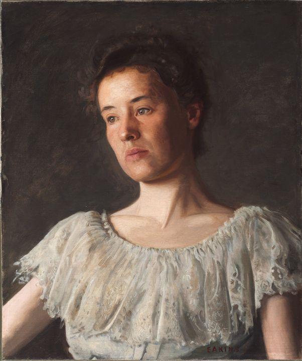 Thomas Eakins~Miss Alice Kurtz - Canvas printing