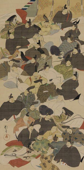 Sakai Hōitsu~The Master Poets - Canvas printing