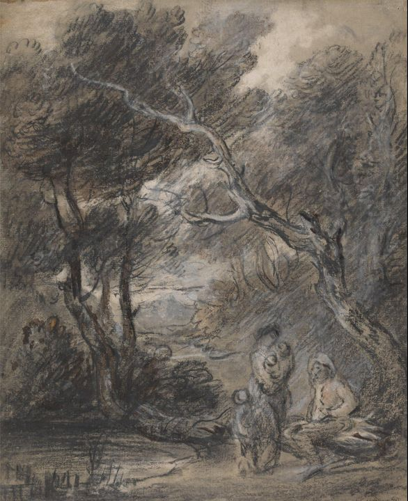 Thomas Gainsborough~Wooded Landscape - Canvas printing