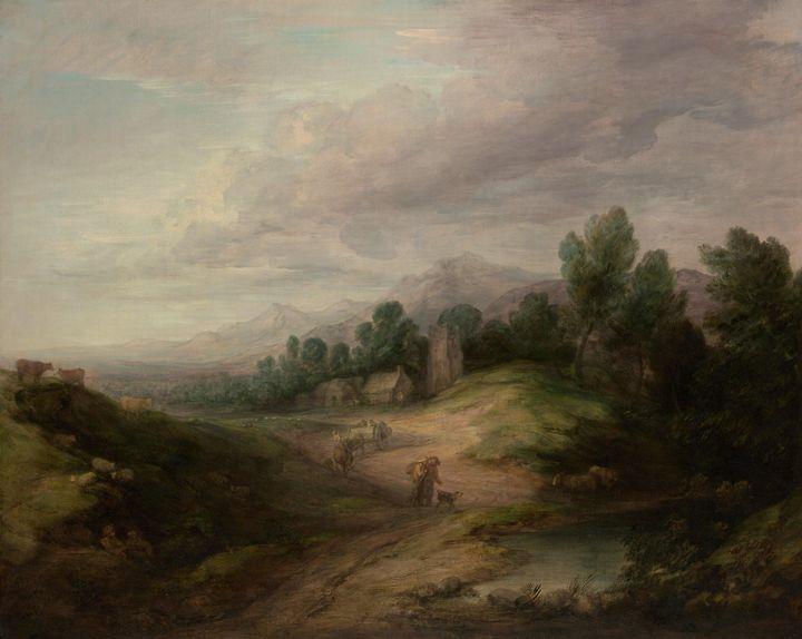 Thomas Gainsborough~Wooded Upland La - Canvas printing