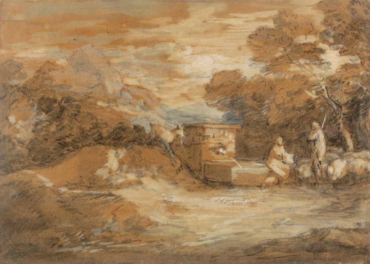 Thomas Gensboro~Mountain Landscape w - Canvas printing