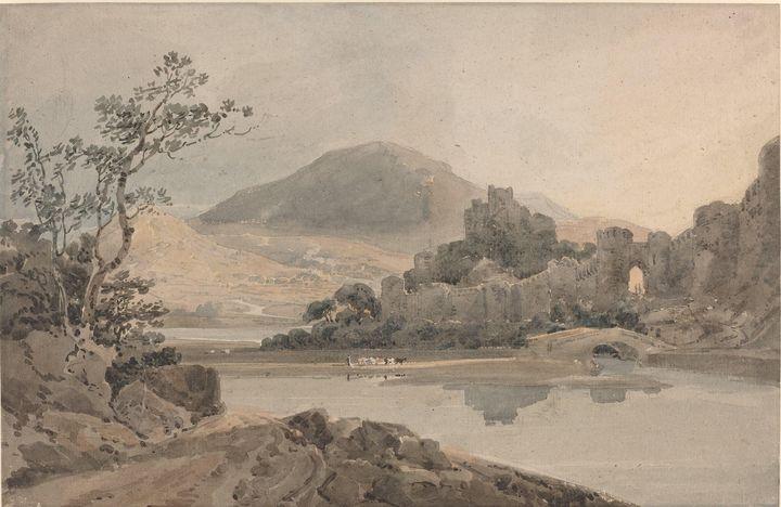 Thomas Girtin~Conway Castle, North W - Canvas printing