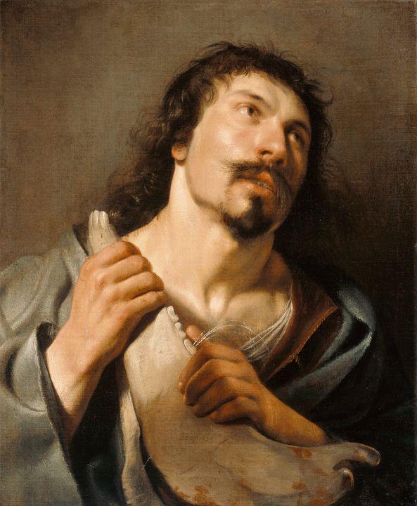 Salomon de Bray~Samson with the Jawb - Canvas printing