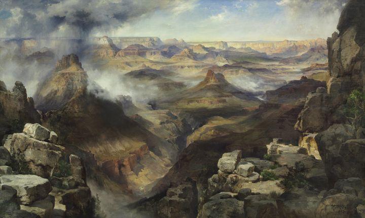 Thomas Moran~Grand Canyon of the Col - Canvas printing