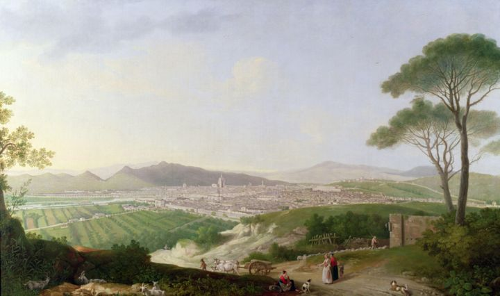 Thomas Patch~A view of Florence - Canvas printing