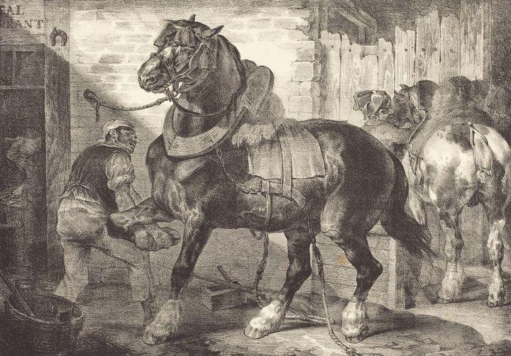 Théodore Géricault~A French Farrier - Canvas printing