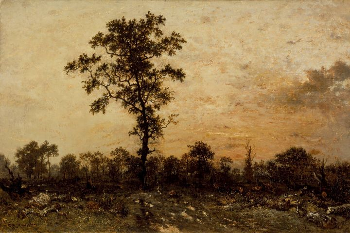 Théodore Rousseau~Edge of the Forest - Canvas printing