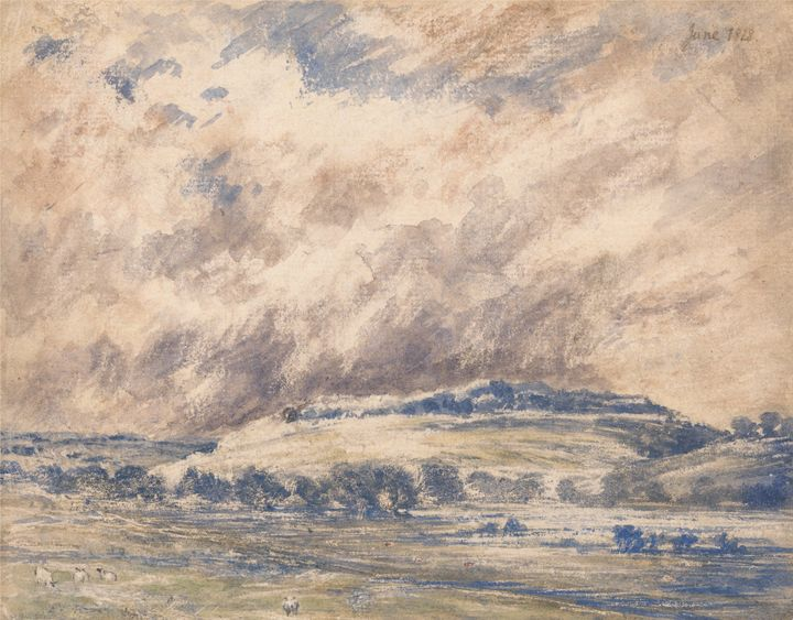 Unknown artist~Old Sarum in a Storm - Canvas printing
