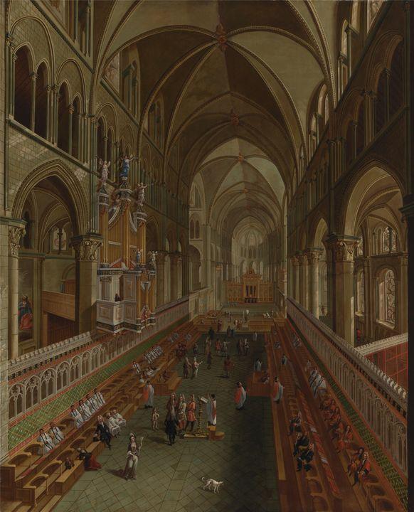 Unknown artist~The Choir, Canterbury - Canvas printing