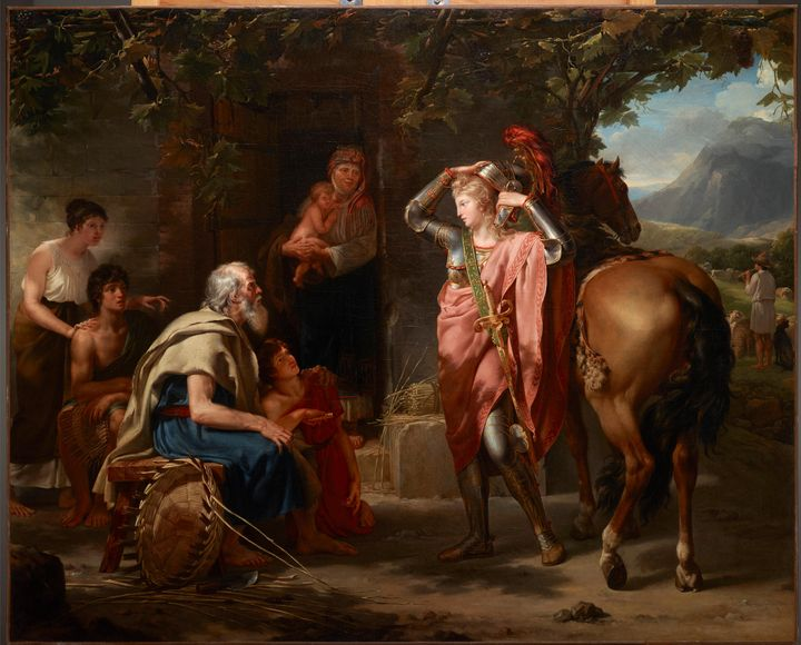 Unknown~Erminia and the Shepherds - Canvas printing